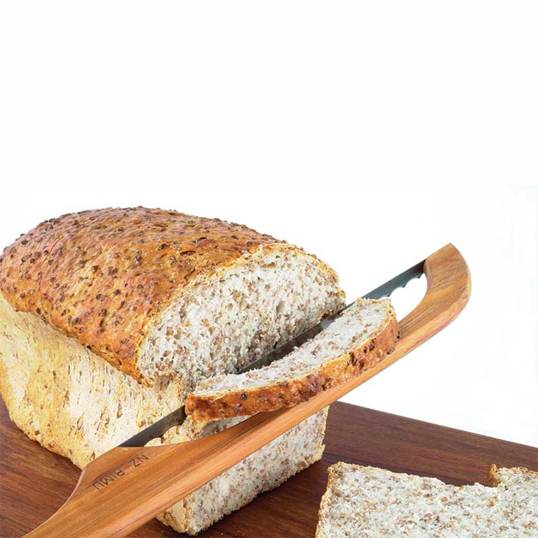 bread knife cutting bread