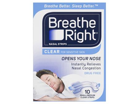 BREATH RIGHT Strips Clear Reg. 10pk