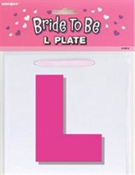 Bride to be L Plate