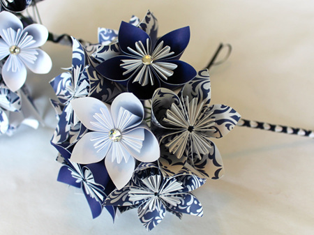 Bridesmaid bouquet with paper flowers