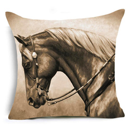 Bridled Horse CUSHION COVER - A MUST FOR HORSE LOVERS!