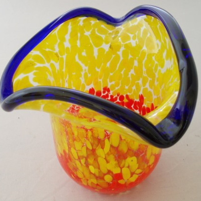 Bright and colourful vase