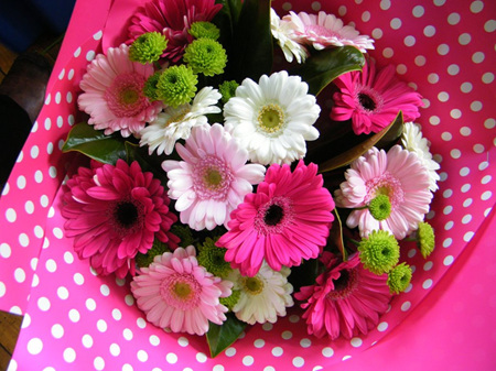 Bright and Soft Pink Gerbera Bouquet