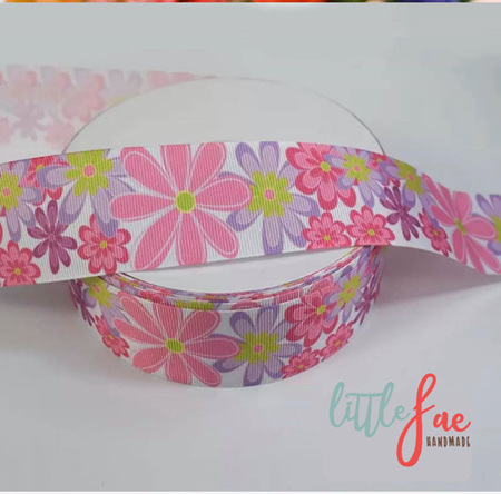 Bright Floral Hair Bows