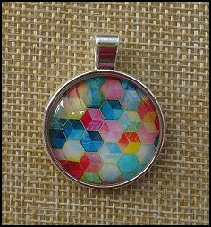 Bright Mixed Glass Dome Key Ring