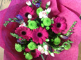 Bright Pink and Green Bouquet