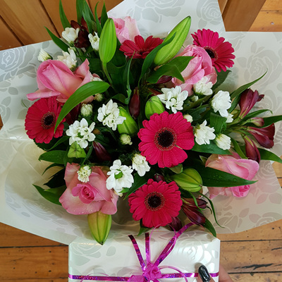 Bright Pink and White Bouquet