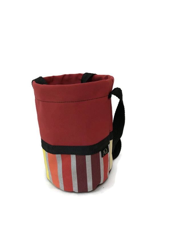 Bright red peg bag - made in NZ