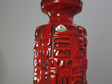 Bright Red Vintage Uebelacker West German Pottery Vase