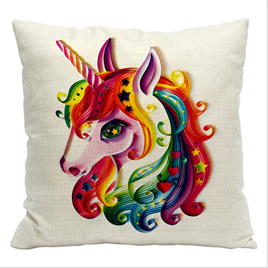 BRIGHT UNICORN CUSHION COVER