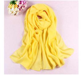 Bright Yellow Chiffon Scarf