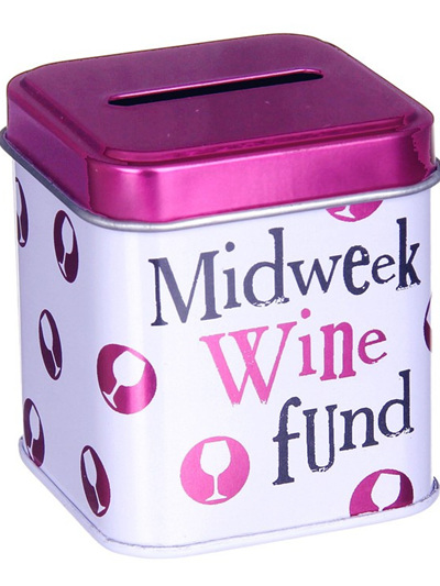 BRIGHTSIDE Midweek Wine Fund Cash Stash Tin