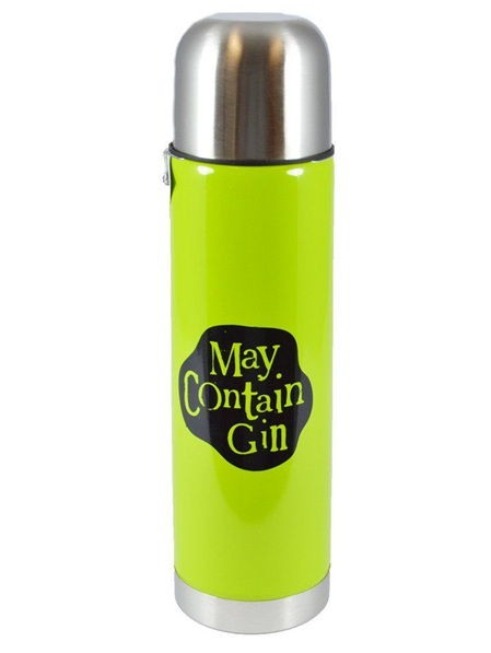 BRIGHTSIDE Thermos flask 'May contain gin'