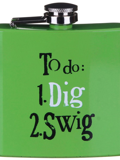 BRIGHTSIDE - To Do: 1. Dig 2. Swig Gardener's Hip Flask