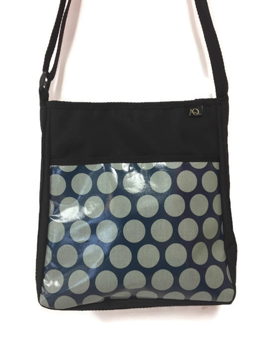 Brill handbag, across the shoulder laminated fabric in teal