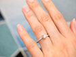 brilliant cut diamond engagement ring delicate diamond band