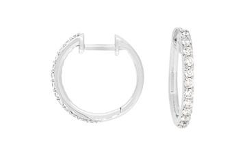 Brilliant Cut Diamond Hoop Earrings