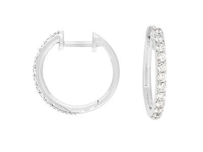Brilliant Cut Diamond Hoop Earrings