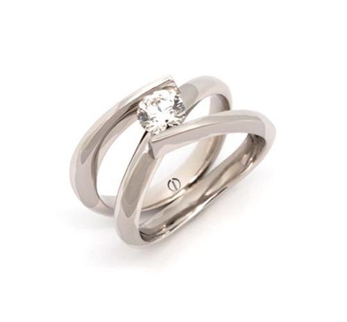Brilliant Cut Engagement Ring