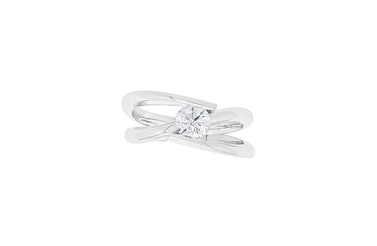 Brilliant Cut Engagement Ring - Infinity