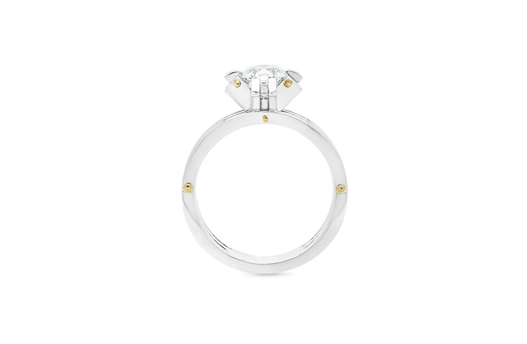 Brilliant cut modern contemporary engagement ring - Transformd