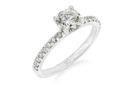 Brilliant Cut With Delicate Diamond Band