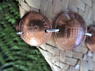 British Coin Bracelet
