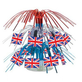 British Flag Mini Cascade Centrepiece
