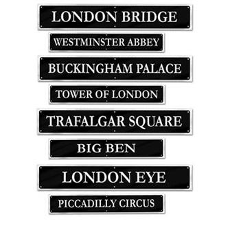 British Street signs cardboard cutouts