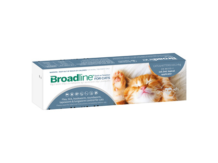 BROADLINE Spot-on Solution for Small Cats & Kittens 0.8-2.4 kg