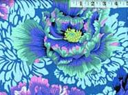 Brocade Peony Aqua