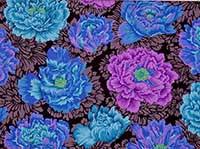 Brocade Peony Blue