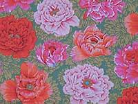 Brocade Peony Red