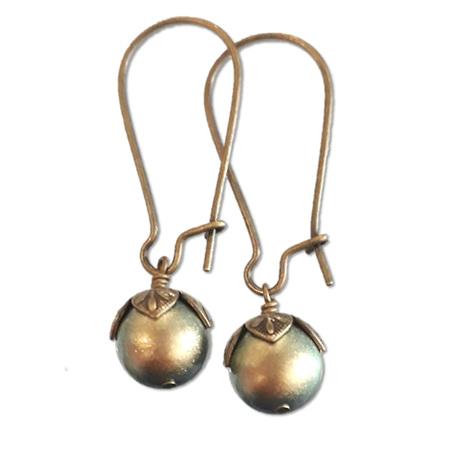 Bronze Berry Earrings