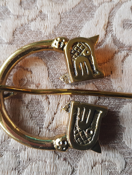 Brooch 5 - Heavy Viking Style Brass Brooch (4.5 cm)