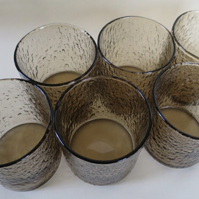 Brown bark glass tumblers