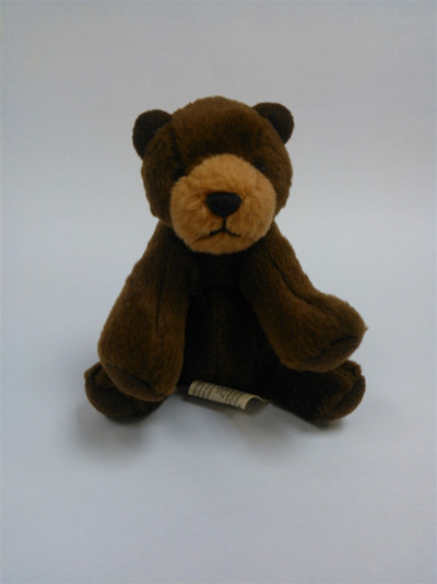 Brown bear keyring