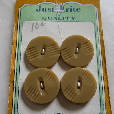 Just Brite card of buttons