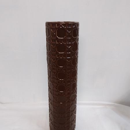 Brown Ceramic Cylinder CO706