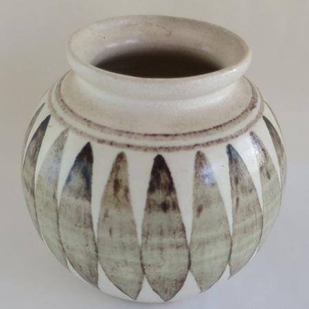Brown geometric vase