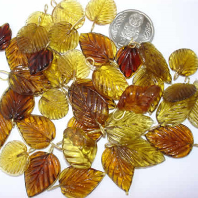 Brown Glass Leaves
