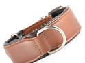 Brown Leather Dog Collar for Large Dogs by Rogue Royalty