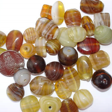 Brown Marble Bead Mix