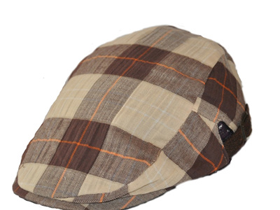 Brown Tartan Cheesecutter