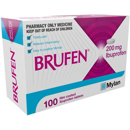 Brufen 200mg Tablets 100