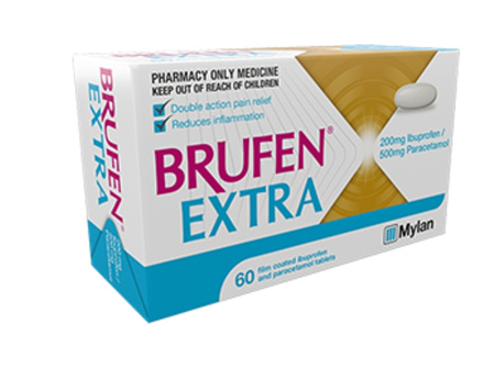 Brufen Extra 200/500mg Ibup/Par 60s