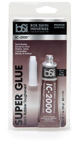 BSI IC-2000 Black Rubber Toughened CA Glue 0.7 oz