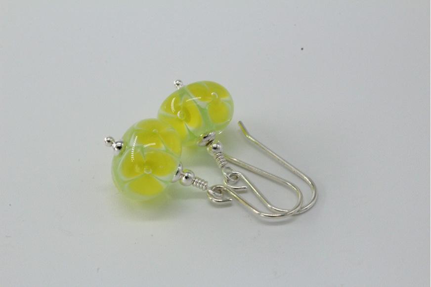 Bubble flower earrings - Citrus