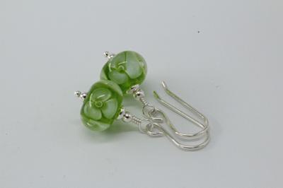 Bubble flower earrings - green