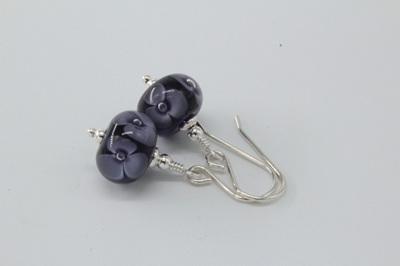 Bubble flower earrings - Ink blue